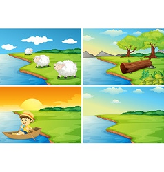 Countryside scenes vector image