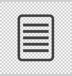 document pictogram icon simple flat for business vector image