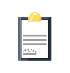 document with sign vector image