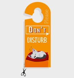door hanger please do not disturb vector image