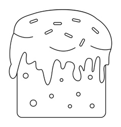 Easter cake icon outline style vector