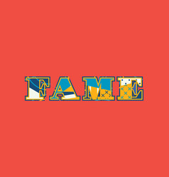 Fame concept word art vector