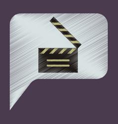 Flat icon in shading style film slapstick vector