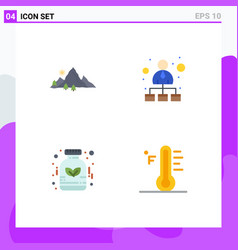Flat icon pack 4 universal symbols mountain vector