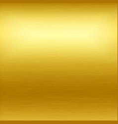 Gold background gold polished metal vector