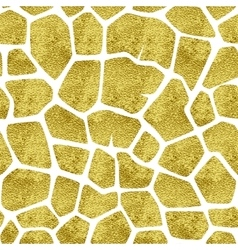 Gold giraffe pattern vector