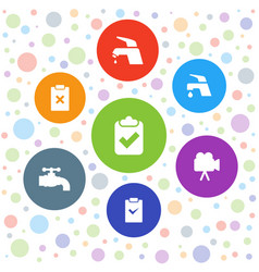 Graphics icons vector