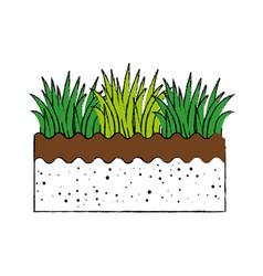 Grass and ground vector