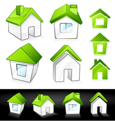 green eco homes vector image