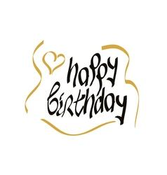 happy birthday script lettering vector image