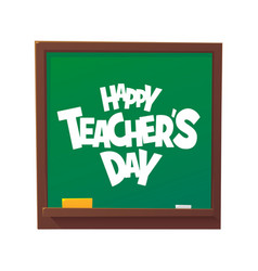 happy teachers day cartoon blackboard vector image