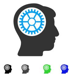 Head cogwheel flat icon vector