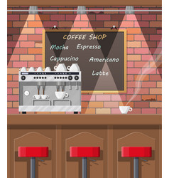 interior of coffee shop pub cafe or bar vector image