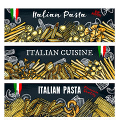 italian pasta banners vector image