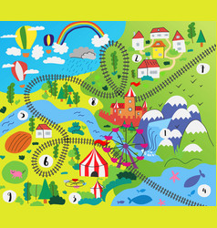 Kid bachild play mat design vector