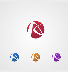 letter a logo in circle logo design concept vector image