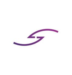 Letter s monogram logo intersection thin line s vector