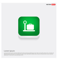 Luggage weighing icon vector