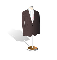 men suit showcase store shop vector image