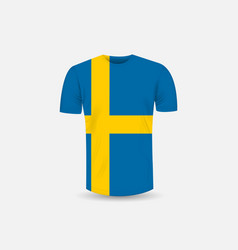 mens t-shirt icon and sweden flag vector image