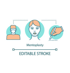mentoplasty concept icon vector image