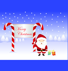 merry christmas greeting card and happy new year vector image