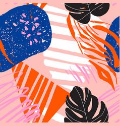 modern brasillian pattern carnival design in nave vector image