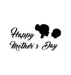 Mother and baby silhouette s day vector