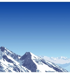 mountains theme beautifull mountain vector image