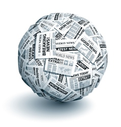 Newspaper ball vector