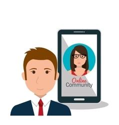 online community design vector image