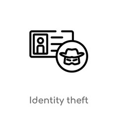 Outline identity theft icon isolated black simple vector