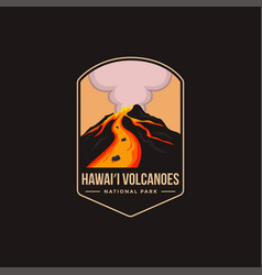 Patch logo hawaii volcanoes national park vector