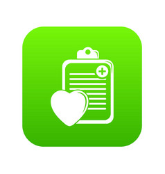 patient card icon green vector image