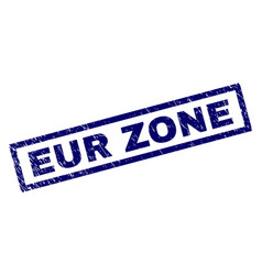 Rectangle scratched eur zone stamp vector