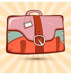 Retro Suitcase on Vintage Background vector image