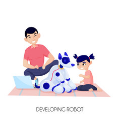 robot for child development vector image