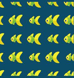 Seamless fish pattern ocean or aquarium vector