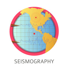 seismography studies themed concept logo vector image