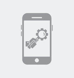 setting customized search on smartphone vector image