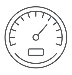 Speedometer thin line icon data and analytics vector