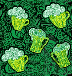 Stylized pattern with beer vector image