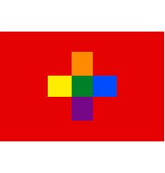 Swiss gay flag or lgbt vector