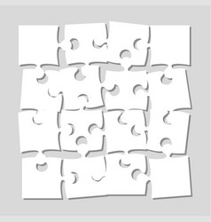 The 16 pieces puzzle banner jigsaw of signboard vector