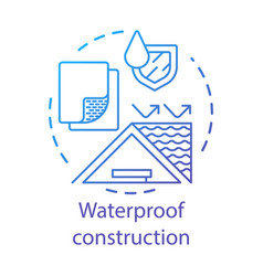 Waterprohouse building materials concept icon vector