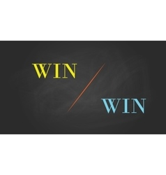 win win solution concept written on the text with vector image