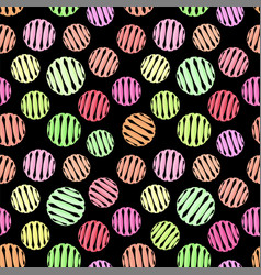 geometric seamless pattern on black vector image