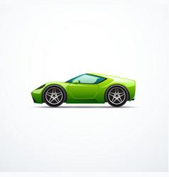 green cartoon sport car side view vector image vector image
