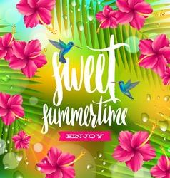 Sweet summertime vector image vector image