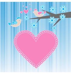two birds in love vector image